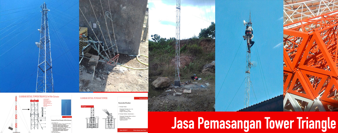 Jasa pemasangan tower triangle